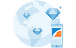 Alibaba globe and smartphone image