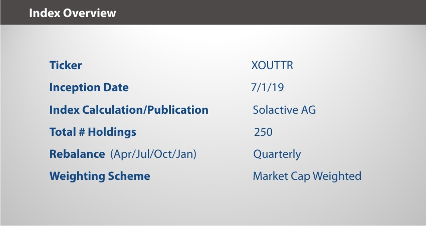 XOUT U.S. Large Cap Index Overview 9.30.19