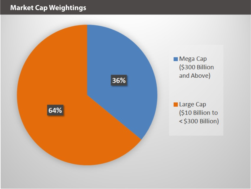 XOUT U.S. Large Cap Index Market Cap Weightings
