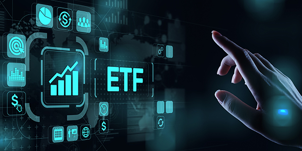 Electronic image of ETF being selected