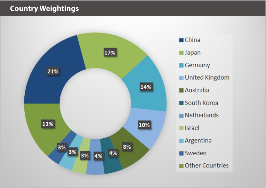 XBUYXT Index Country Weightings