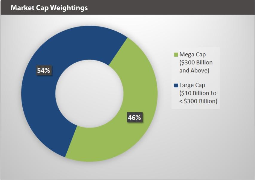 XOUT U.S. Large Cap Index Market Cap Weightings